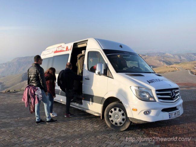 Shuttle bus at Nemrut Dagi