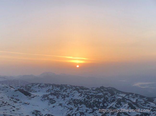 Sunrise at peak of Nemrut Dagi