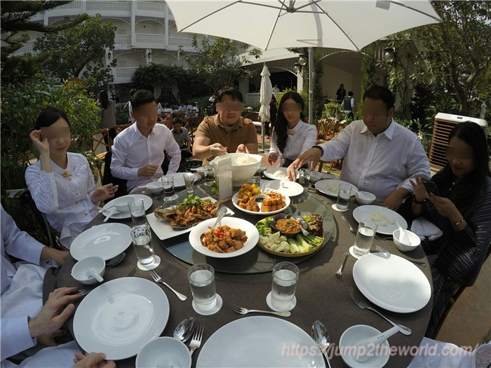 Dishes of Thai wedding