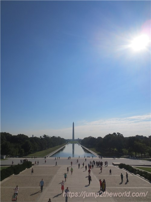 リンカーン記念堂からの眺め