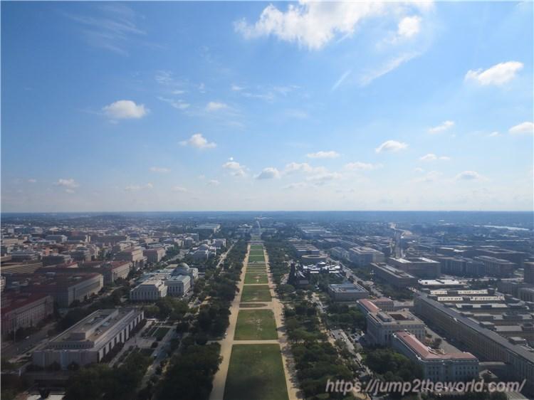 ワシントン記念塔からの眺め