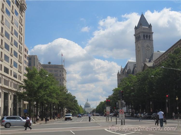 ワシントンDCの街並み